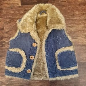 Mexx Baby Corduroy and Fur Vest